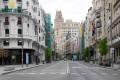An empty Gran Via street in Madrid, Spain. Photo: AFP