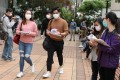 Medical students on the campus of the University of Hong Kong in Pok Fu Lam on Wednesday. Photo: Nora Tam