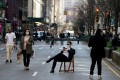 Park Avenue in Manhattan is closed to traffic due to the coronavirus. Photo: Reuters
