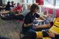 People give blood during a blood drive of the German Red Cross DRK in Erfurt, Germany, on March 18, 2020. Photo: AP