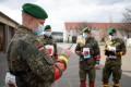 Soldiers in Germany test the use of a tracking app aimed at fighting the spread of coronavirus. Photo: AFP