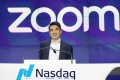 In this April 18, 2019 file photo, Zoom CEO Eric Yuan attends the opening bell at Nasdaq as his company holds its IPO in New York. Photo: AP