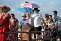 In February, thousands of Chinese tourists opted to stay on the Indonesian island of Bali rather than return home. Photo: AFP