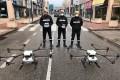 Soldiers testing DJI drones in Madrid last week. Photo: Handout