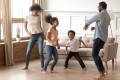 Dancing at home together as a family is one way to keep the coronavirus quarantine blues at bay. Photo: Shutterstock