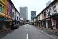 Closed shops in Singapore amid the coronavirus outbreak. Photo: AFP