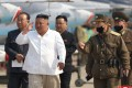 North Korean leader Kim Jong-un visits an airfield in this undated image released by North Korea's Korean Central News Agency (KCNA) on April 12. Photo: Reuters