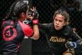 Denice Zamboanga unleashes in her victory over Jihin Radzuan, of Malaysia. Photos: One Championship