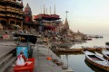 Manikarnika Ghat on the banks of the Ganges river during India's government-imposed lockdown. Photo: AFP