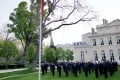 The Chinese national flag flies at half-mast at the Chinese embassy in Paris on April 4 to mourn those who died of Covid-19. Photo: Xinhua