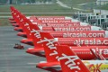 AirAsia aircraft seen on the tarmac of Kuala Lumpur International Airport on March 27. Photo: Xinhua