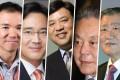 South Korea's richest men include five billionaires whose net worth ranges from US$16.4 billion to US$3.1 billion. Photos: Handouts/Bloomberg via Getty Images/Hyundai Motor Group