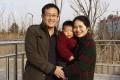 Wang Quanzhang and his wife, Li Wenzu, with their son in February 2015. He was arrested five months later and is now detained in Jinan, Shandong province, unable to join his family in Beijing. Photo: Wang Quanxiu via AP