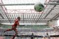 The vast, imposing San Siro stadium in Milan, Italy. Home of Internazionale and AC Milan. Photo: AP