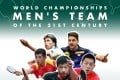 China's Ma Long (front in black) heads the men's Dream Team of the century. Photo: ITTF