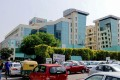 The Max Hospital in Saket, New Delhi, where a severely ill Covid-19 patient has responded positively to experimental plasma therapy treatment. Photo: AFP