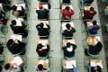 Hong Kong students on the first day of the Diploma of Secondary Education exams at the Cheung Sha Wan Catholic Secondary School last year. Exams in Hong Kong could be cancelled this year if there is a surge in coronavirus cases. Photo: SCMP