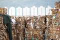 Waste paper stacked at Wing Shun Street in Tsuen Wan, Hong Kong. Photo: Sam Tsang