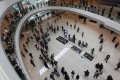 Groups of protesters spread out in the IFC Mall. Photo: Xiaomei Chen