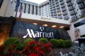 The exterior of the Portland Marriott in Portland, Oregon, the US. The hotel giant plans to disinfect hotel guest rooms and sanitise keys as part of its cleanliness strategy to put guests' minds at ease as travel restrictions begin to lift. Photo: AP