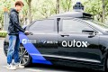 The AutoX RoboTaxi service in Shanghai's Jiading district marks the first time an option for a self-driving car has become available on a major ride-hailing platform in China. Photo: Handout