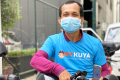 A driver for the Philippine app-based delivery service MyKuya. Photo: Handout