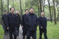 Chinese President Xi Jinping (centre) visits the Xixi National Wetland Park in Zhejiang province on March 31. China is plotting post-crisis strategy like a chess game while the US lacks a game plan. Photo: AP