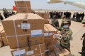 Chinese medical supplies are unloaded in Phnom Penh, Cambodia. Photo: EPA-EFE
