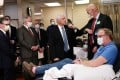 US Vice-President Mike Pence (centre) tours Mayo Clinic facilities in Rochester, Minnesota, on Tuesday. Photo: Reuters