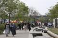 People visit a public park along the Han River in Seoul, South Korea, on April 30. Photo: AP
