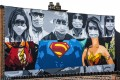 Street art showing medical staff as superheroes. Photo: dpa