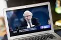 Warren Buffett speaks during the virtual Berkshire Hathaway annual shareholders meeting. Photo: Bloomberg