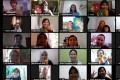 Online book clubs are gaining popularity during coronavirus lockdowns. This Baca Rasa Dengar book club Zoom event in Indonesia had 70 people attending. Photo: Pratiwi Juliani