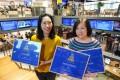 South China Morning Post journalists Enoch Yiu (left) and Peggy Sito with their awards from the Hang Seng University of Hong Kong. Photo: Robert Ng