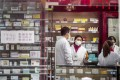 Students visited pharmacies in China, like this one in Shanghai, to check on their antibiotic sales policies. Photo: Getty Images