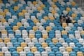 An empty stadium as a Hong Kong football match is played behind closed doors during the pandemic. Photo: Felix Wong