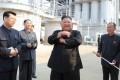 North Korean leader Kim Jong-un attends an event at a fertiliser plant north of Pyongyang on May 2. Photo: KCNA via Reuters