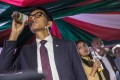 Madagascar's President Andry Rajoelina says tests have proven the efficacy of Covid-Organics. Photo: AFP