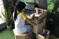 The Poppi Desk, designed by Adrian Chua of Singapore-based Paper Carpenter and made from cardboard. Photo: Handout
