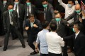 Scuffles broke out in Hong Kong's Legislative Council on Friday. Photo: Dickson Lee