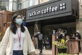 A Luckin Coffee outlet in Shanghai. The Xiamen-based start-up operated 3,500 stores globally as of late last year. Photo: Bloomberg