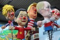 Carnival float figures of British Prime Minister Boris Johnson, Chinese President Xi Jinping, US President Donald Trump, Russian President Vladimir Putin and North Korean leader Kim Jong-un are previewed in Cologne, Germany, on February 18, 2020. Photo: Reuters