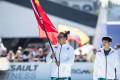 Ant Haynes carries China's flag at the 2019 Games. He is dealing with the disappointment of the 2020 Games positively, by focusing on the bigger picture of improvement. Photo: Duke Loren Photography
