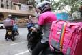 Foodpanda delivery riders in Wan Chai, Hong Kong. Photo: SCMP / Felix Wong