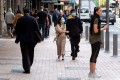 Pedestrians in Wellington, New Zealand. Photo: AFP