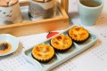 Touch your heart with these up-to-date dim sum treats – abalone and cheese tarts at Nove Chinese Kitchen. Photo: handout
