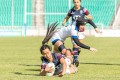 Anna Birkett dives in for a try during the Asia Rugby Sevens Tournament Qualifier for the Tokyo 2020 Olympic Games this past November in China. Photo: HKRU