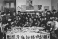 Red Guards prepare dazibao – big character posters – criticising revisionism, in December 1967, in Wuhan. Photo: Getty Images