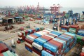 The Global Trade Barometer plunged to 87.6, its lowest reading since launching in 2016. The baseline index is 100, with a reading below that suggesting a contraction. Photo: Xinhua