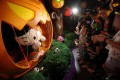 Children enjoy an attraction featuring Sanrio characters, during the Ocean Park Spooktacular Halloween Fest on September 26, 2018. Photo: Jonathan Wong
